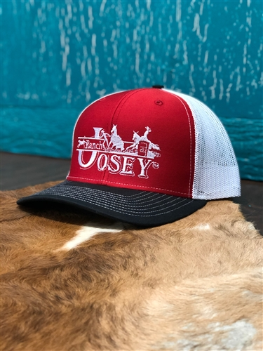 "JOSEY RANCH ""Black White and Red"" Cap"