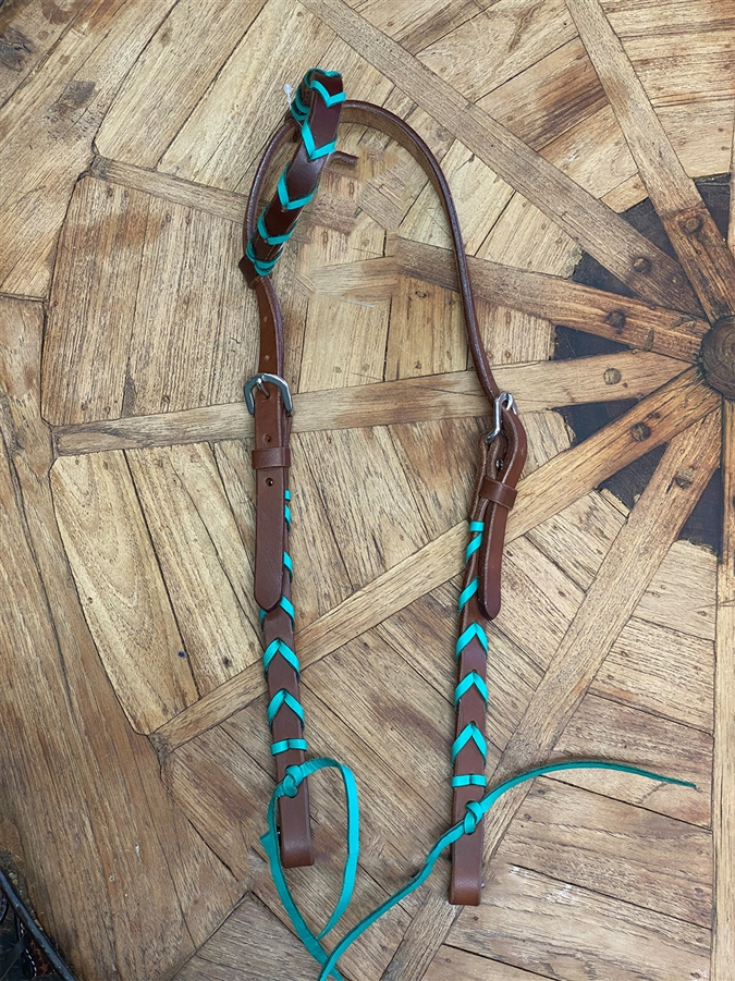 Turquoise Braided Head Stall